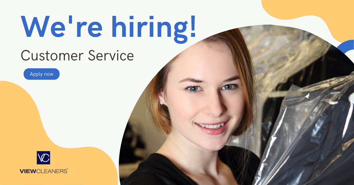 Now hiring dry cleaning CSR